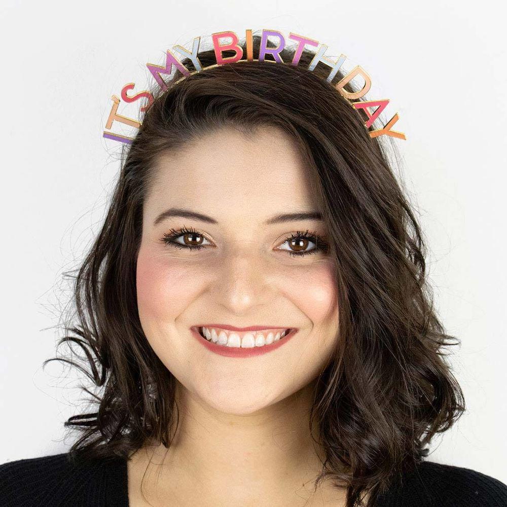 Rose Its My Birthday Party Headband Virtual Party Wear