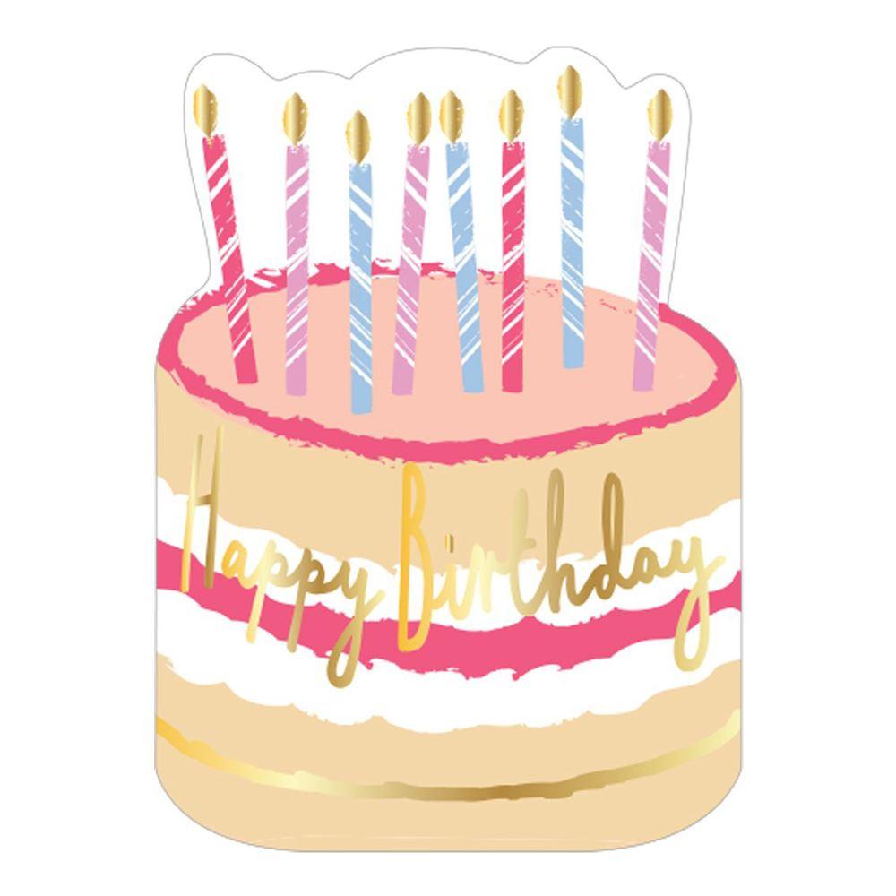 12 Birthday Cake Party Napkins, Gold Foil Happy Birthday Napkins, Pastel Party Napkins, Birthday Tableware, Gold Napkins, Kids Party Napkins