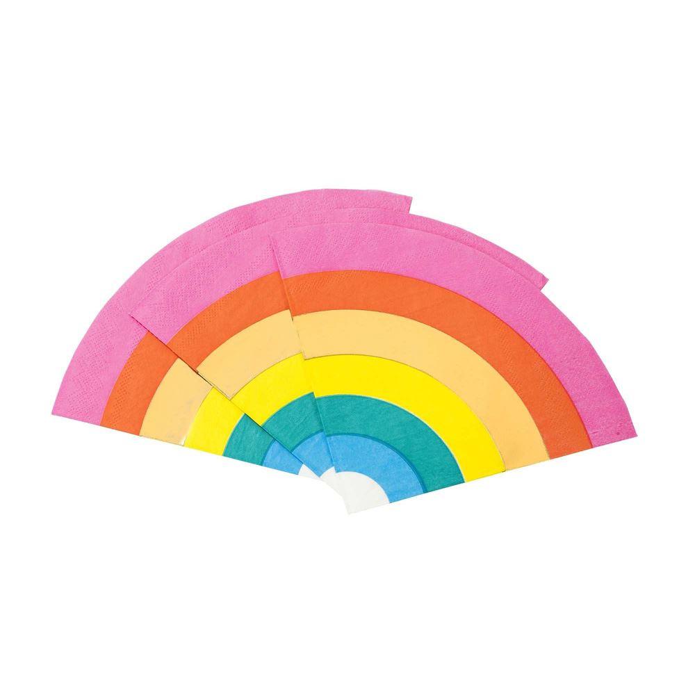 16 Rainbow Party Napkins, Bright Birthday Paper Napkins, Rainbow Napkins, Rainbow Party, Rainbow Birthday, Rainbow Party Decorations