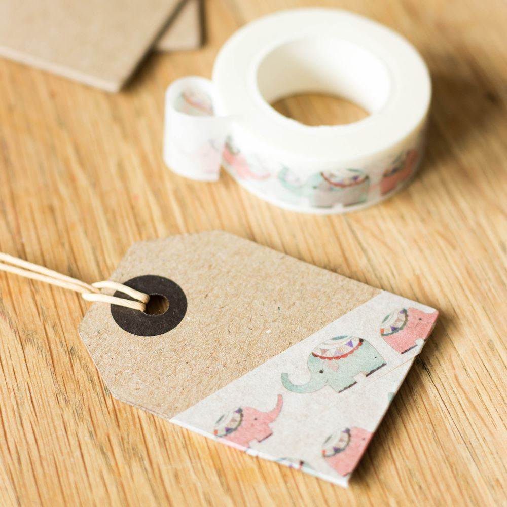 Elephant Decorative Washi Craft Tape x 10m