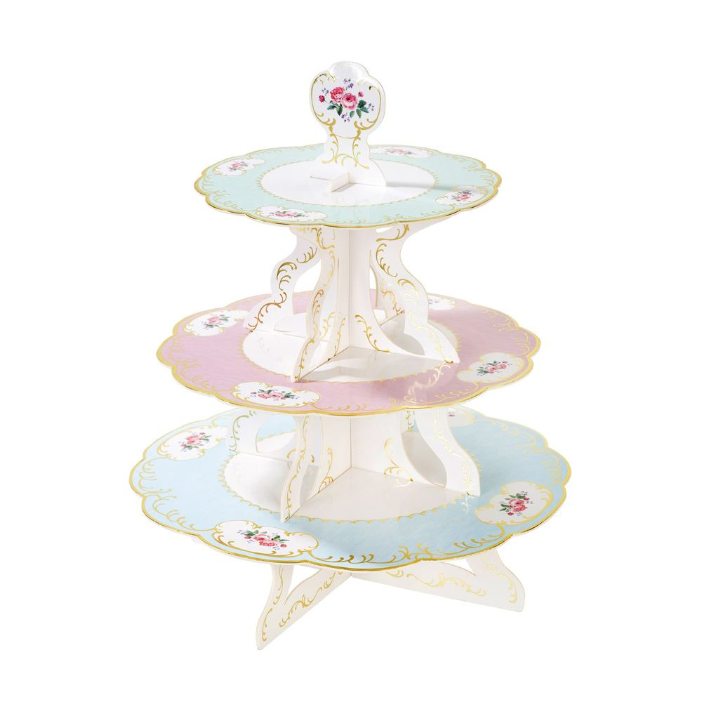 Vintage-Floral-Afternoon-Tea-Party-Shabby-Chic-Partyware thumbnail 3