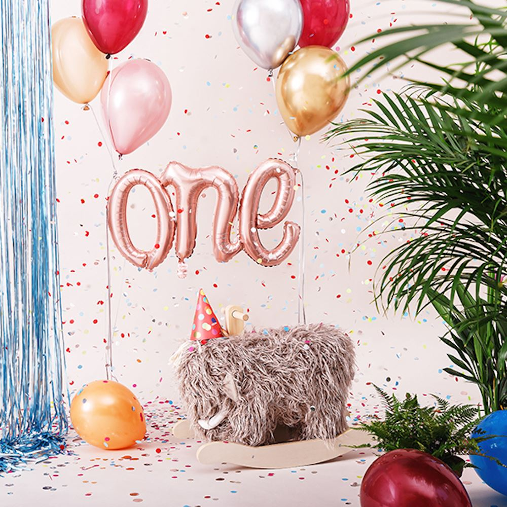 Rose Gold ONE First Birthday Foil Balloon