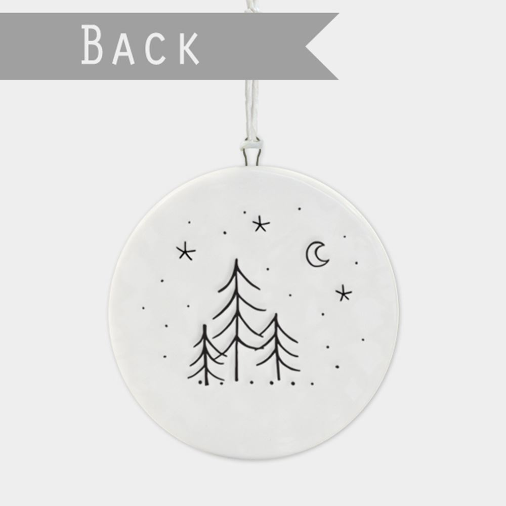 East-of-India-Flat-Christmas-Bauble-hanging-decoration-porcelain-gifts thumbnail 33
