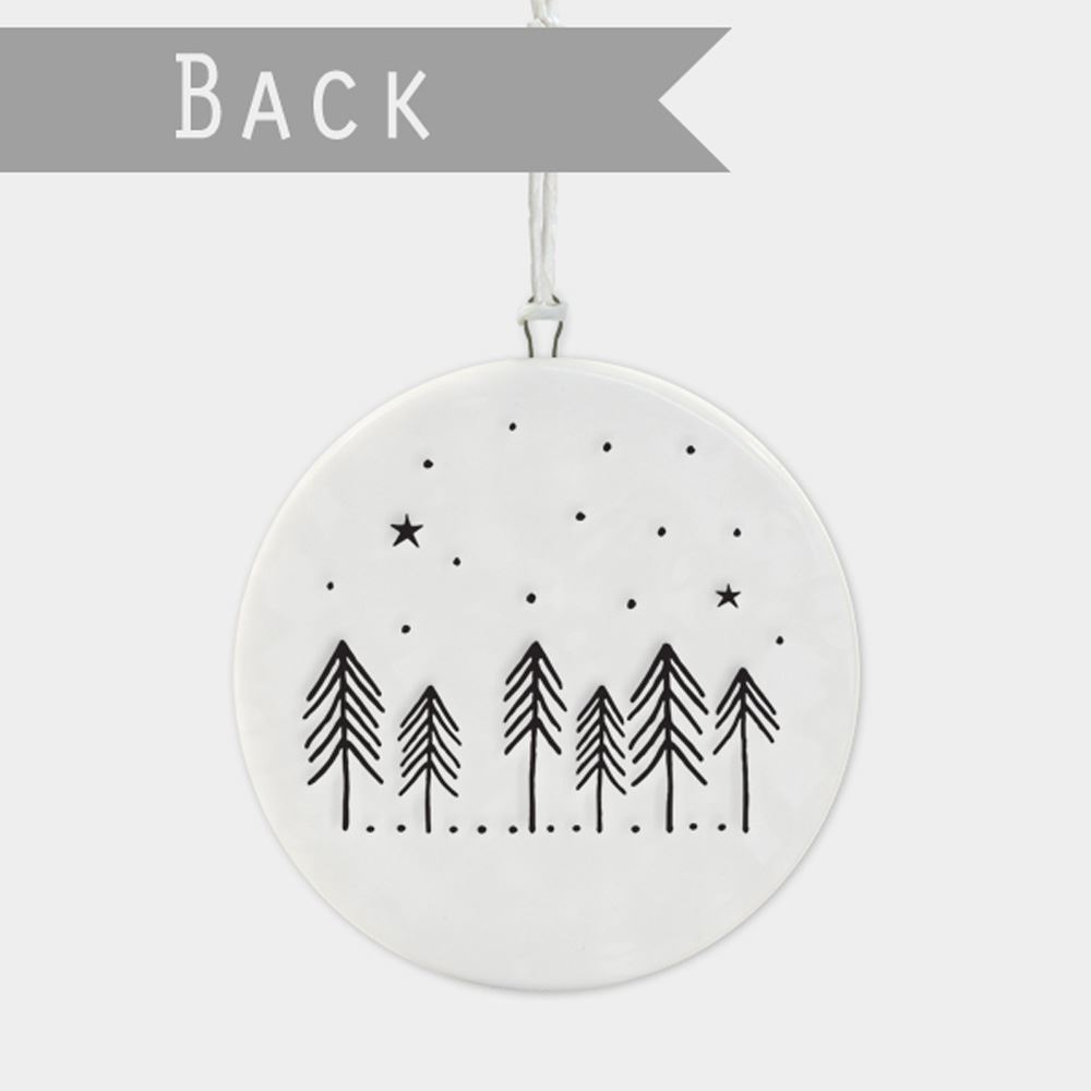 East-of-India-Flat-Christmas-Bauble-hanging-decoration-porcelain-gifts thumbnail 23