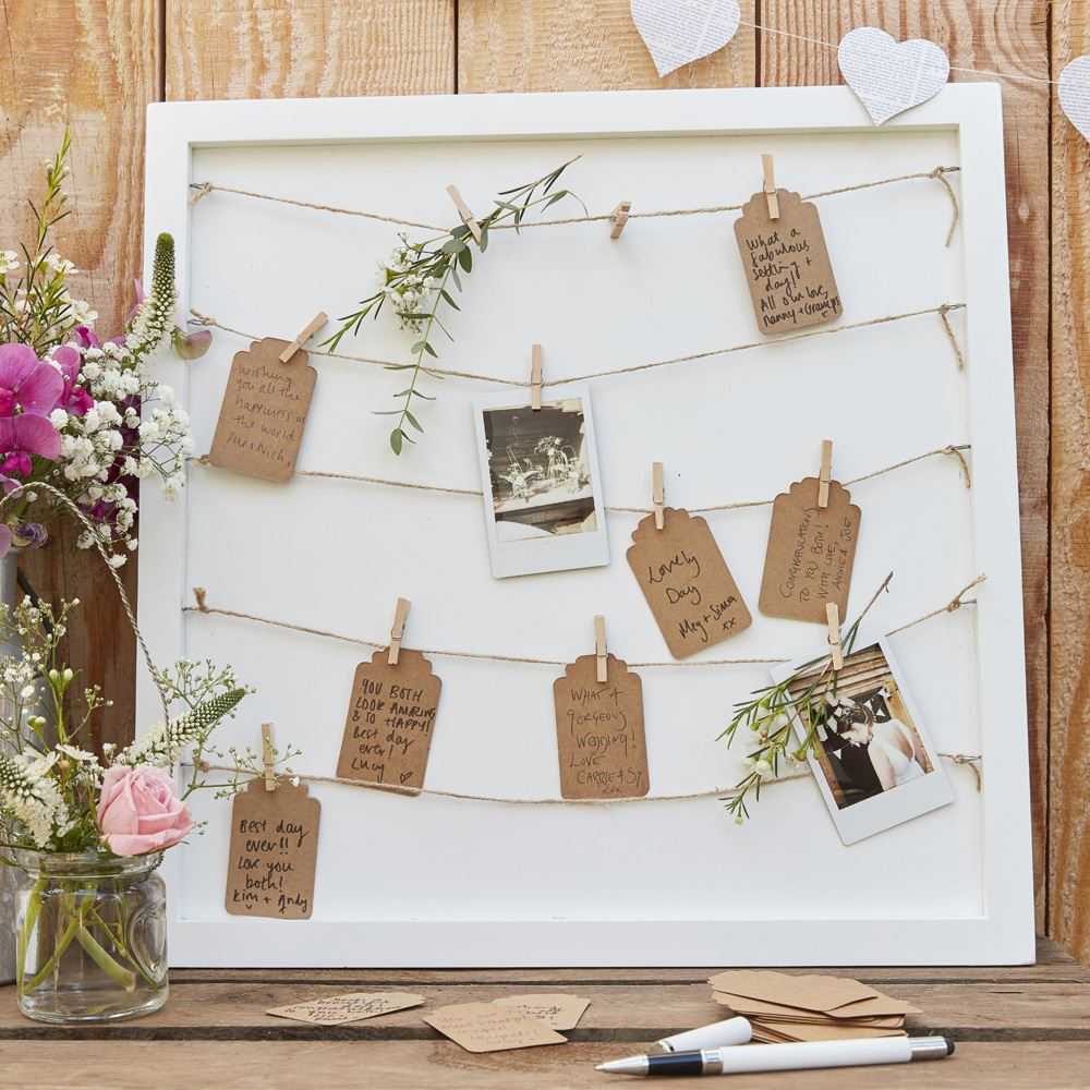 RUSTIC-COUNTRY-Themed-Wedding-Accessories-Decorations-Guest-Books
