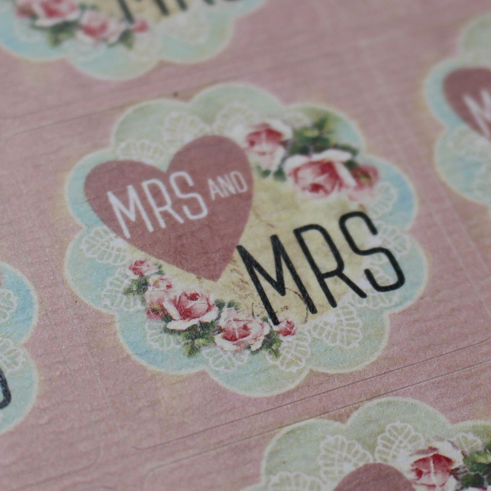 35 Floral MRS Wedding Stickers, Square Pink MRS Stickers,  Hen Party Stickers, Wedding Stickers, DIY Wedding Invites,  Wedding Favours