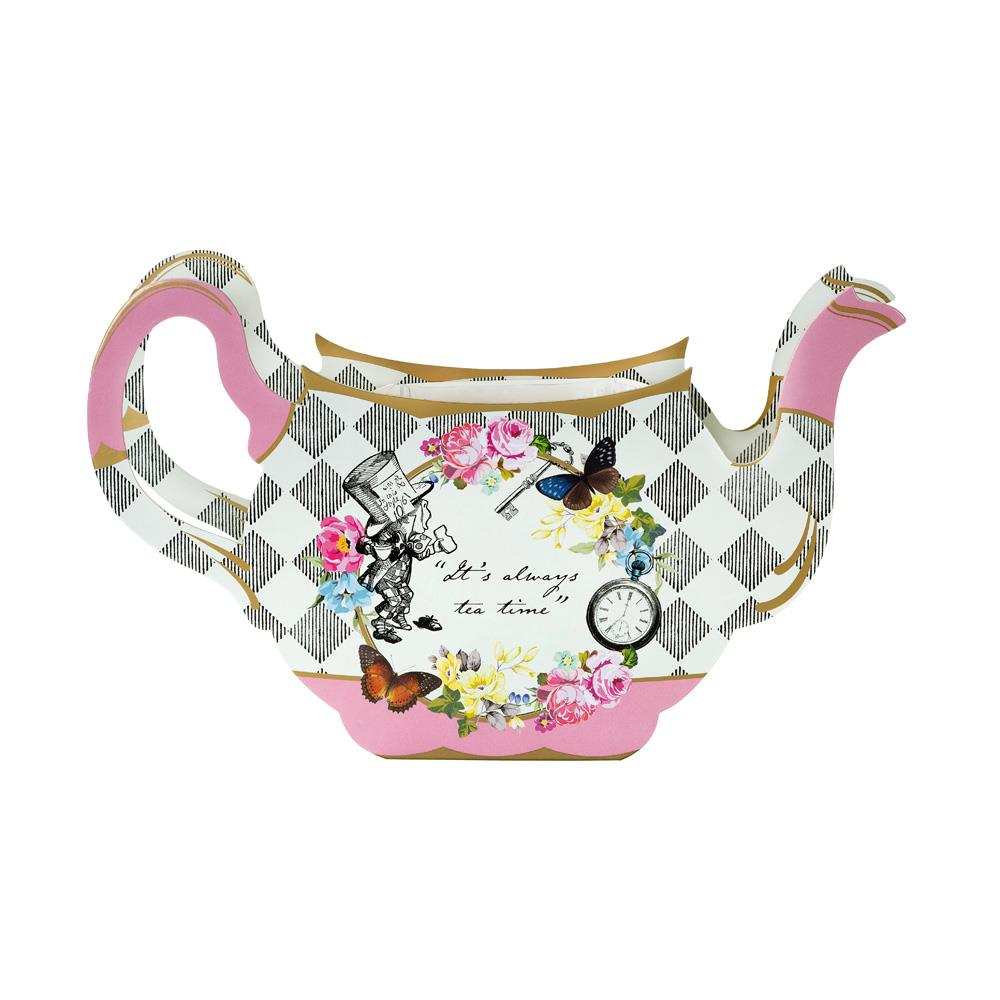 Alice In Wonderland Tea Pot Vase Centrepiece, Floral Wedding Teapot Stand, Afternoon Tea Party Decorations, Vintage Wedding Decorations