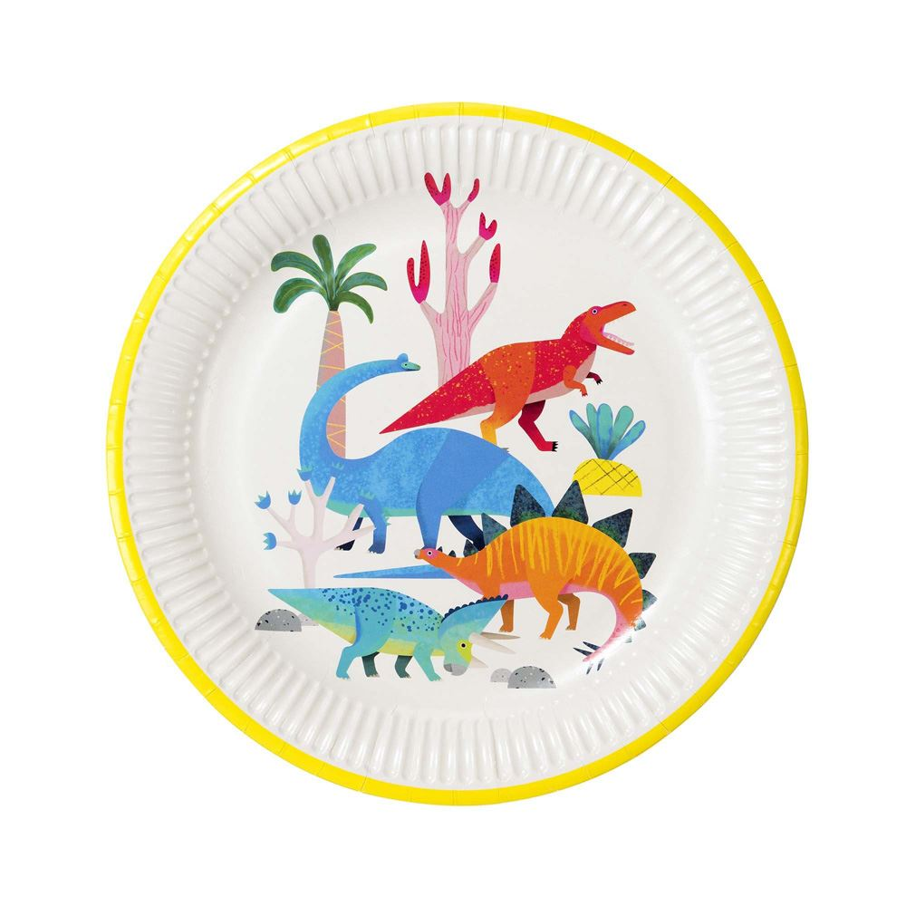8 Dinosaur Party Plates, Boys Birthday Party, Dinosaur Birthday Party Decorations, 1st Birthday Party, Children's Party, Kid's Party