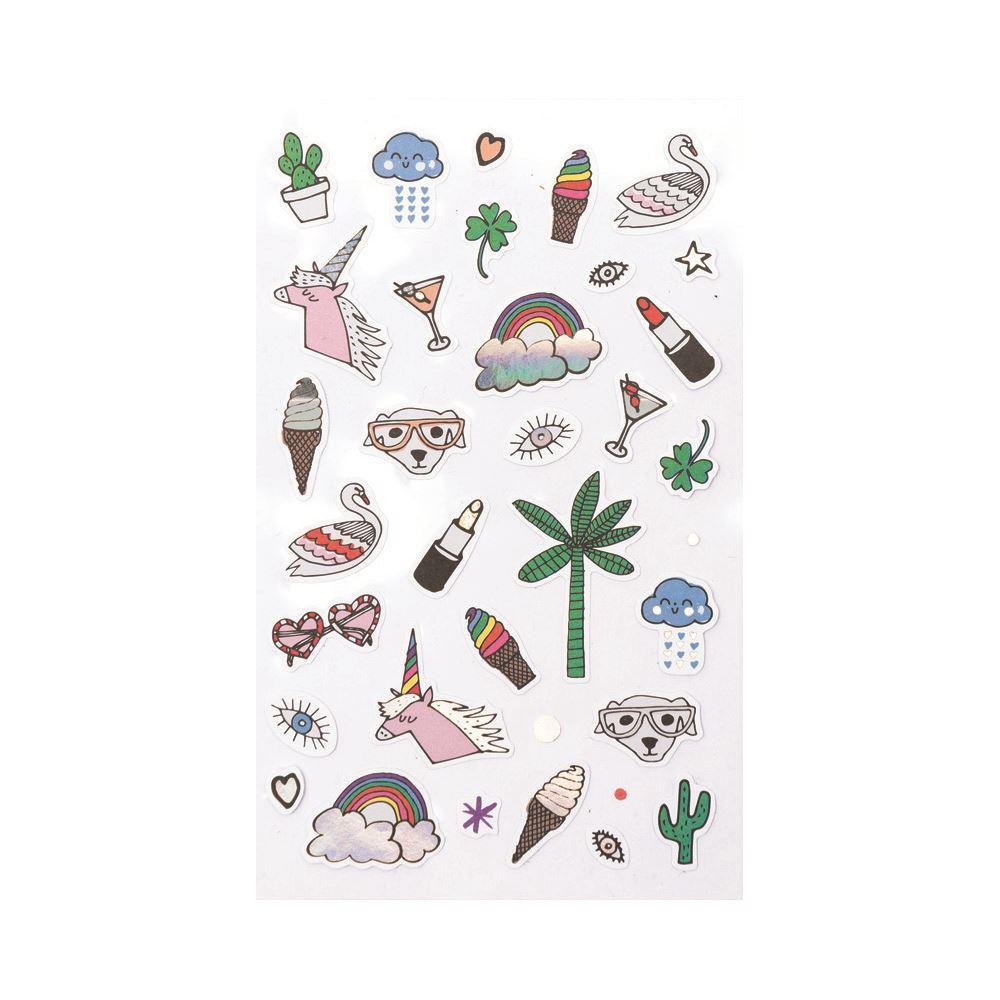 180 Iridescent Unicorn & Rainbow Stickers, Unicorn Birthday Party, Unicorn Crafts, Rainbow Birthday Party Bag Favours, Birthday Stickers
