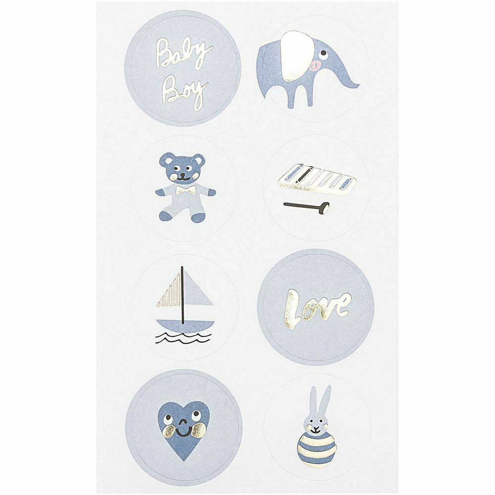 100 Baby Boy Themed Stickers, Baby Shower Craft Stickers, New Baby Craft, Baby Boy Crafts, Scrapbook Stickers, Baby Shower Gifts