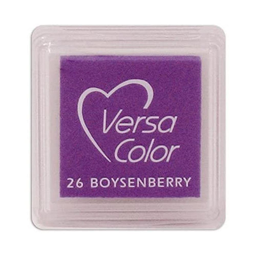 Versacolor Boysenberry Purple, Small Purple Pigment Ink Pad, Stamp Pad, Stamp Ink, Ink Stamp, Inkpad For Rubber Stamp, Purple Colour Ink Pad