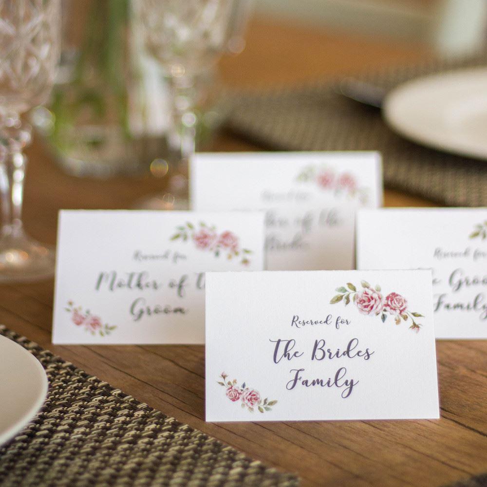 Reserved Wedding Card Set of 4 Mother of Bride Groom Family BOHO
