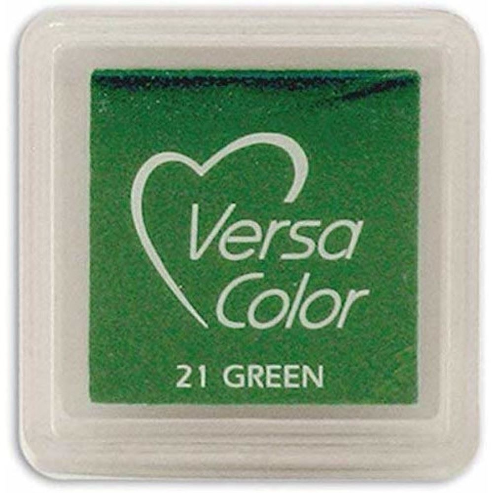 Versacolor Green Small Pigment Ink Pad, Stamp Pad, Stamp Ink, Ink For Stamp, Inkpad For Rubber Stamp, Colour Ink Pad, Scrapbooking