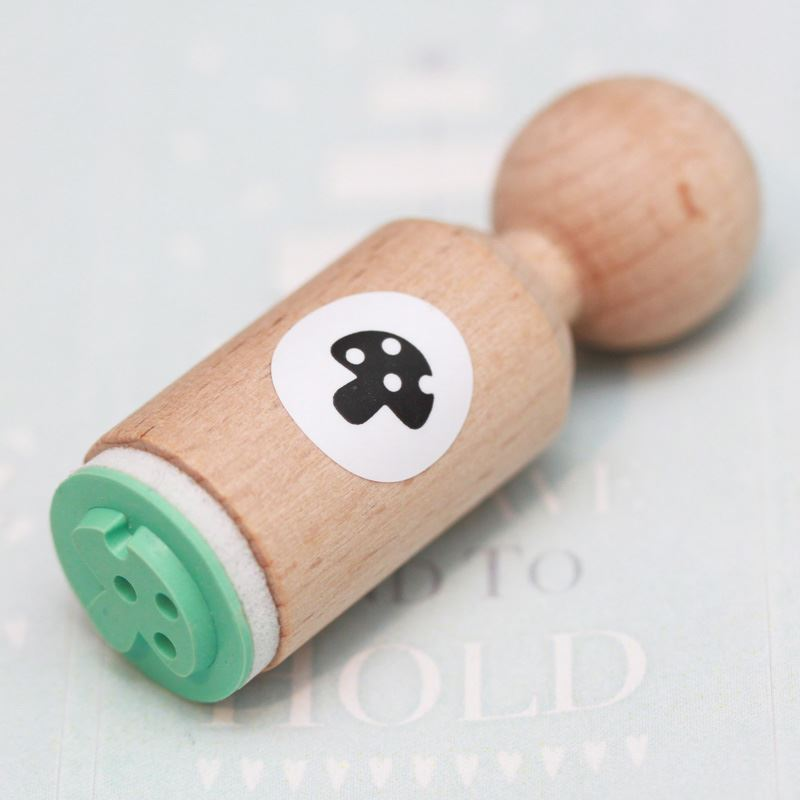 Toadstool Round Rubber Stamp - VERY MINI - Craft / Scrapbooking / Stamping