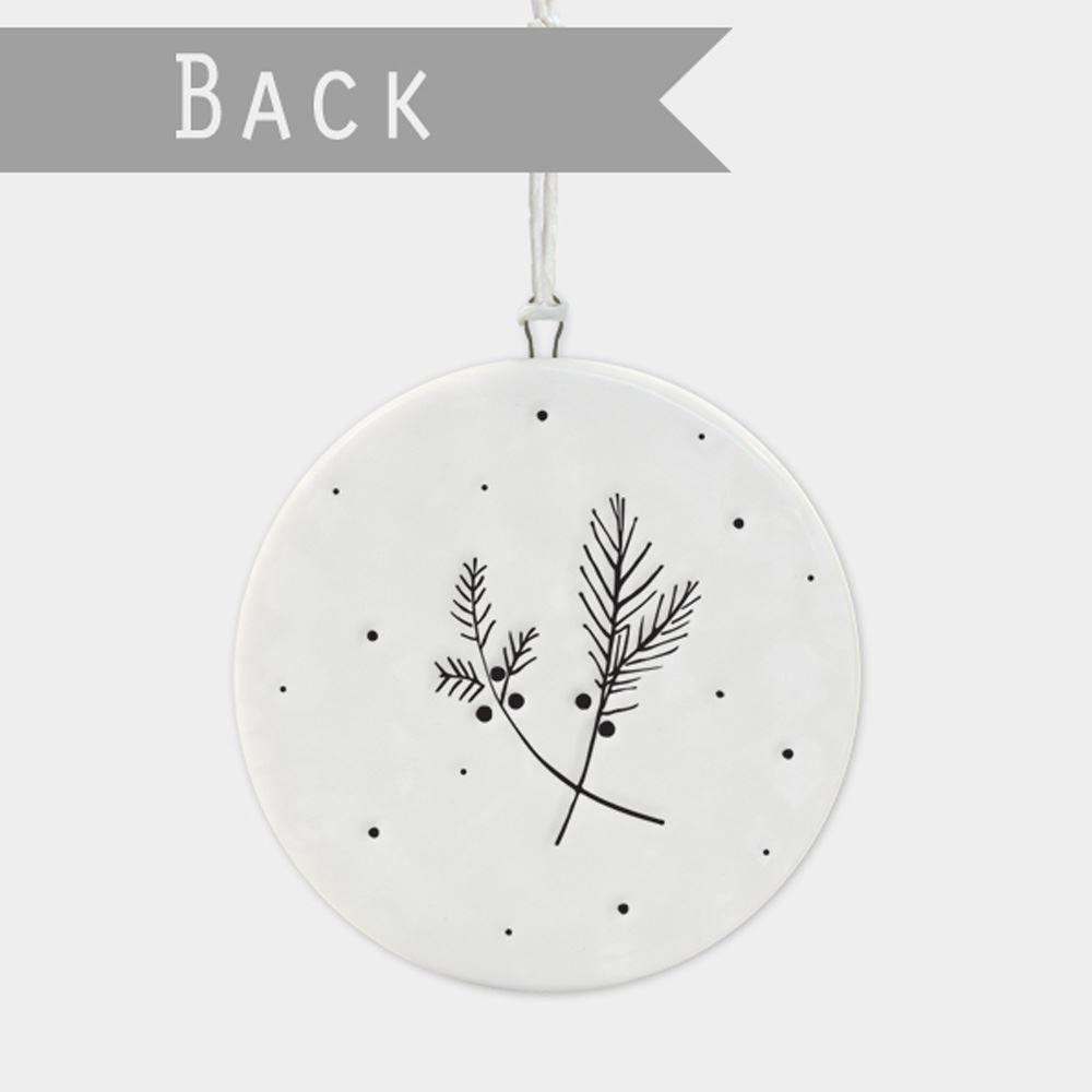 East-of-India-Flat-Christmas-Bauble-hanging-decoration-porcelain-gifts thumbnail 25