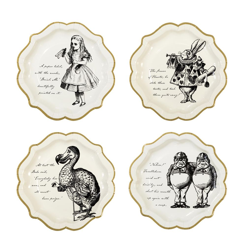12 Alice In Wonderland Paper Plates, Alice in Wonderland Party Supplies, Wonderland Party, Mad hatters Party, Afternoon Tea Party Plates