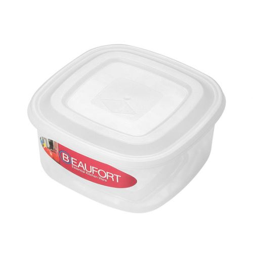 5L Beaufort Clear Plastic Food Storage Container Square Upright Lunch Box