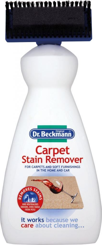 2 x dr beckmann carpet soft furnishing stain remover cleaner brush 650ml. Black Bedroom Furniture Sets. Home Design Ideas