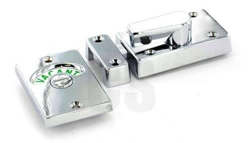 SECURIT S2947 CHROME VACANT ENGAGED INDICATOR BATHROOM DOOR LOCK