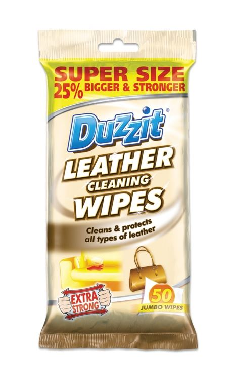 Duzzit Leather Sofa Cleaning Wipes Cleans & Protects Jumbo Pack 50 ...