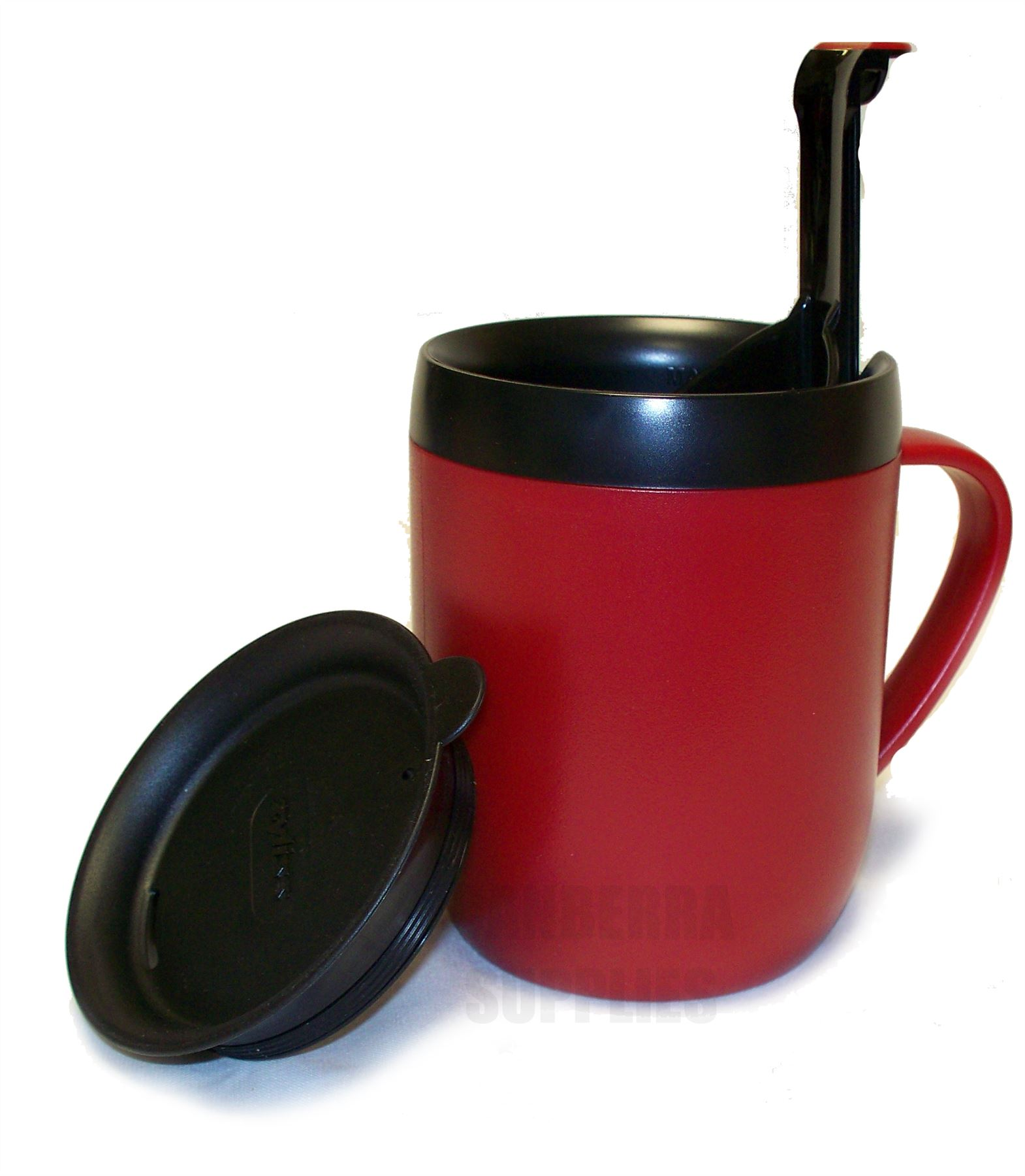 zyliss smart cafe one cup coffee cafetiere hot mug with splash lid red ebay. Black Bedroom Furniture Sets. Home Design Ideas