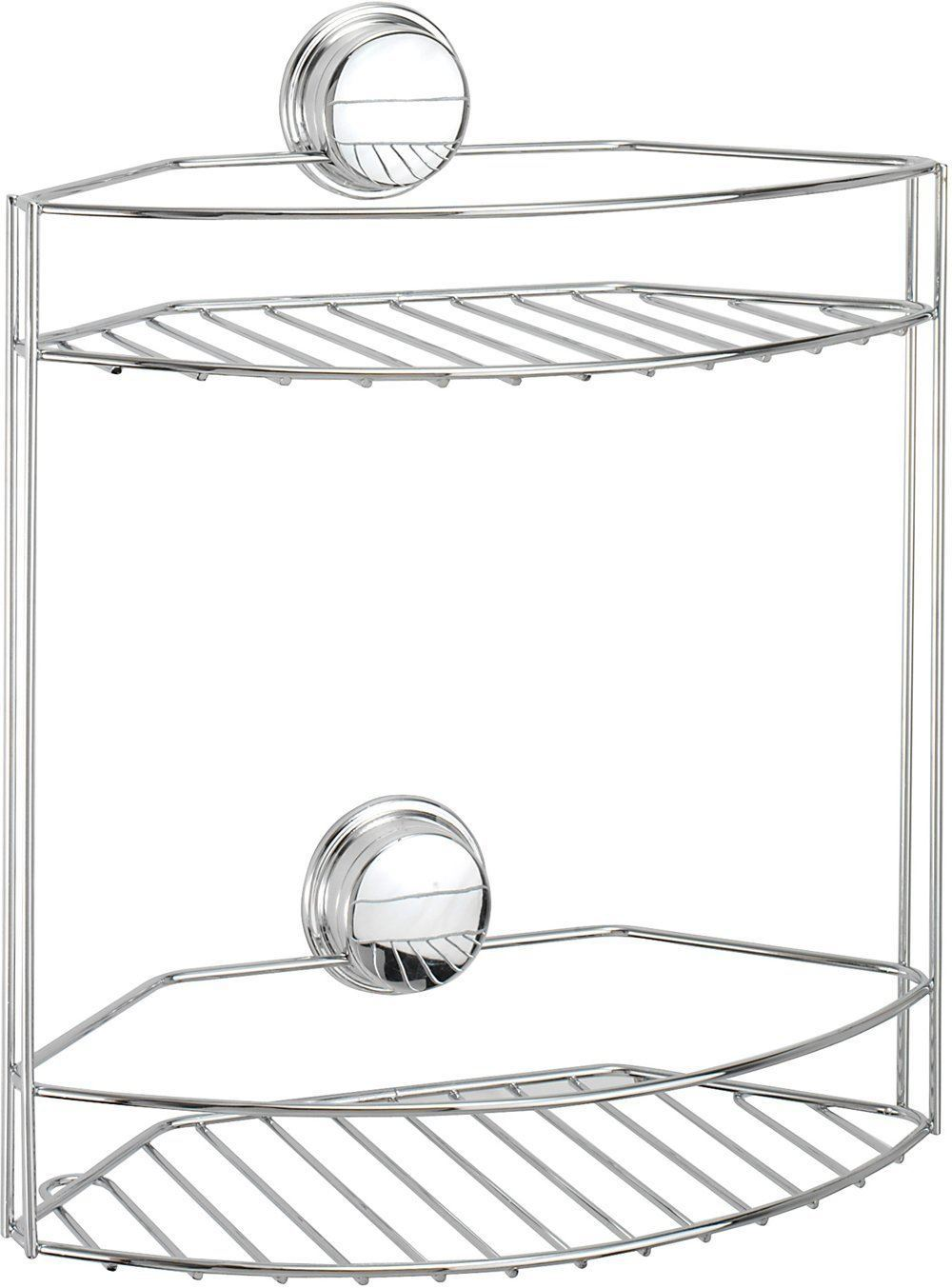 Tier basket shower caddy mild steel rust free stick n lock bathroom - Croydex Stick N Lock Plus 2 Tier Basket Chrome Plated Storage Shower Bath Cady