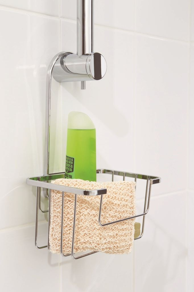 Croydex Shower Riser Rail Caddy Holder Basket Holder Storage with ...