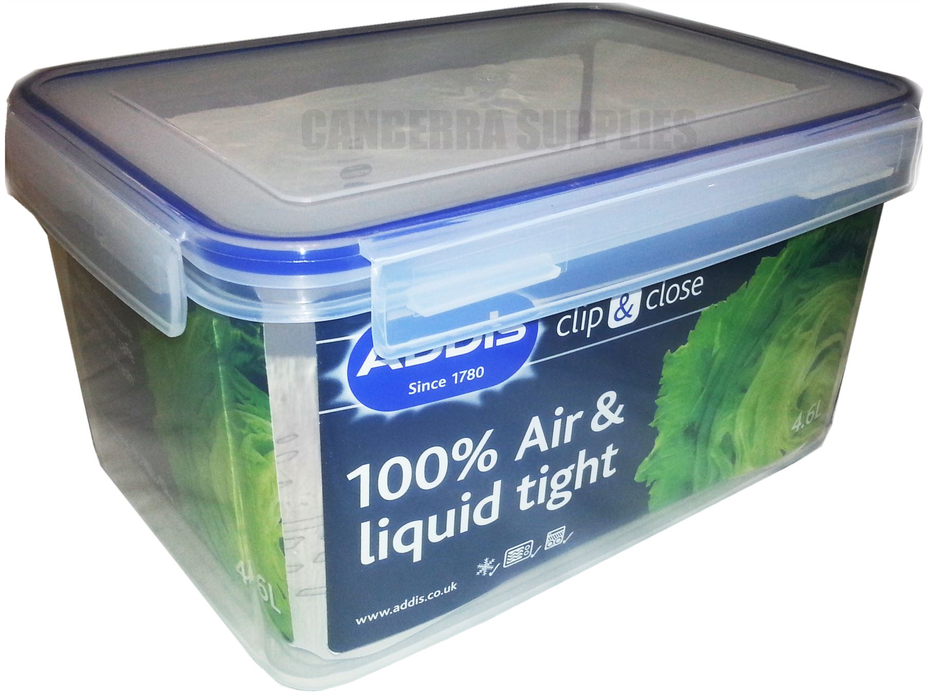 ADDIS CLIP CLOSE RECTANGULAR FOOD STORAGE CONTAINER 46L AIR