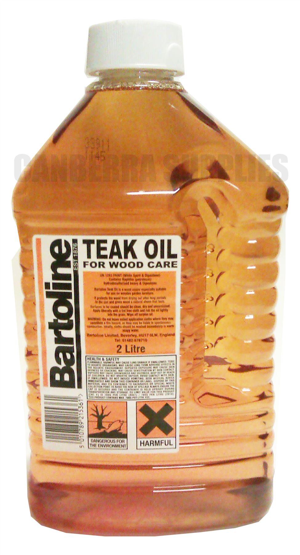 BARTOLINE TEAK OIL GARDEN FURNITURE WOOD TREATMENT CARE ...