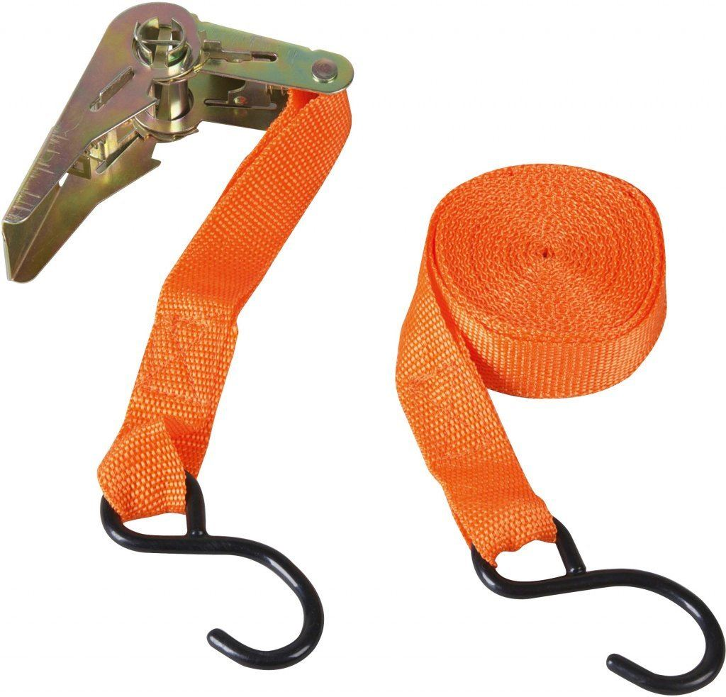 """2 x Ratched Tie Down With 2 x S Hooks 5/"""" x 1/"""" Quick Release"""