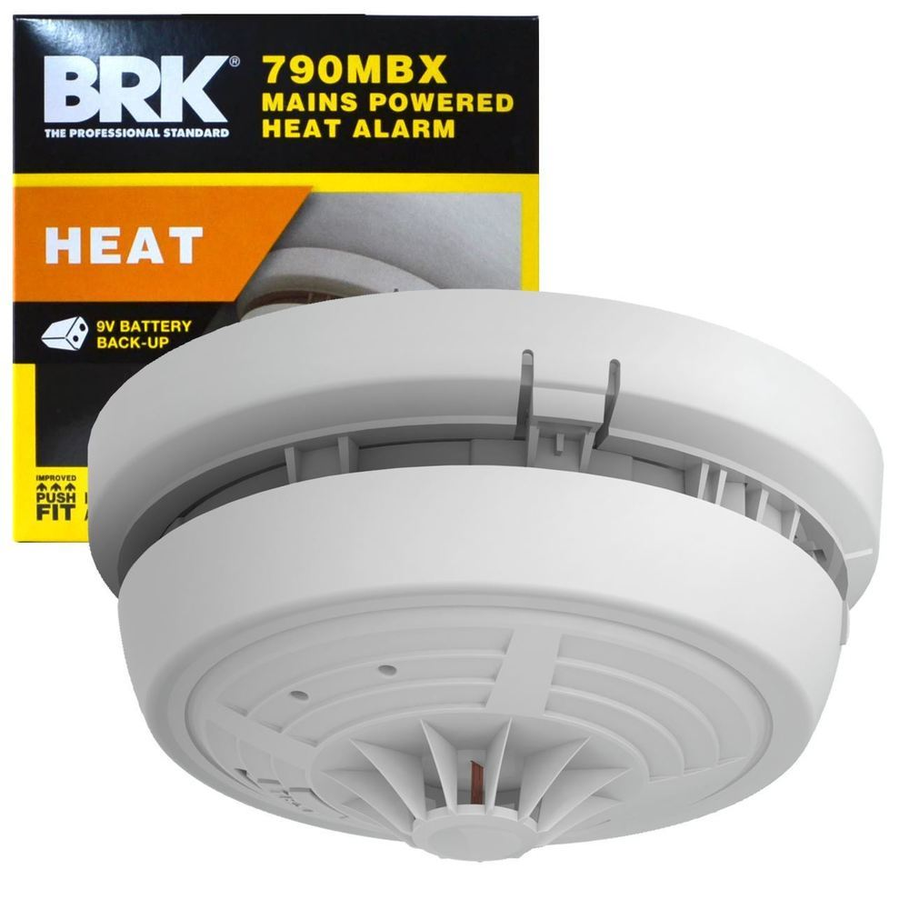 BRK 790MBX Mains Powered Hard Wired Heat Alarm With Battery Backup ...