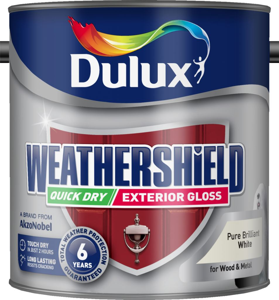 Dulux weathershield quick dry exterior gloss 2 5l pure - Weathershield exterior paint system ...