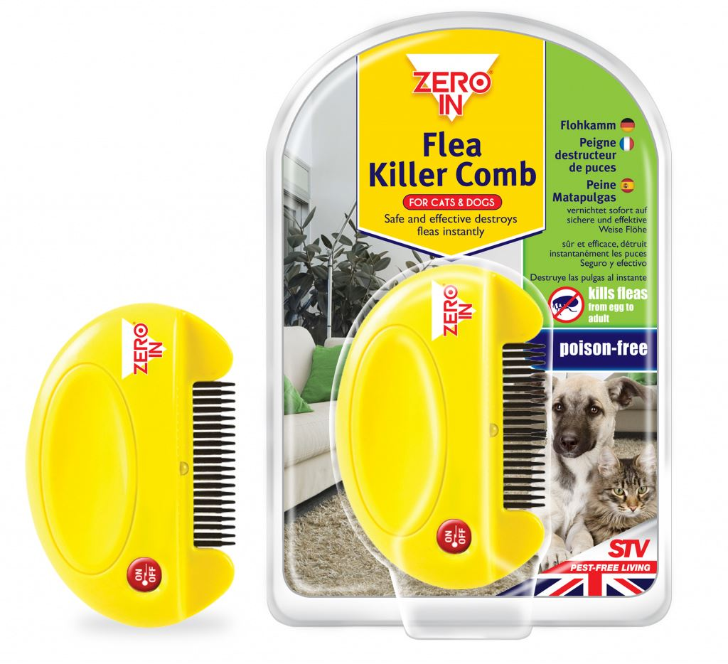 Zero In Electronic Flea Killer Comb Dogs Cats Poison Free • EUR 12,00