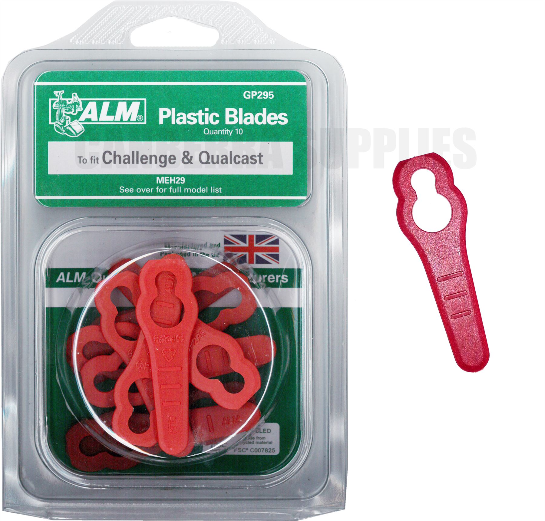 ALM Lawn Mower Plastic Blades Replacement Blades Outdoor Power Tool Accessories