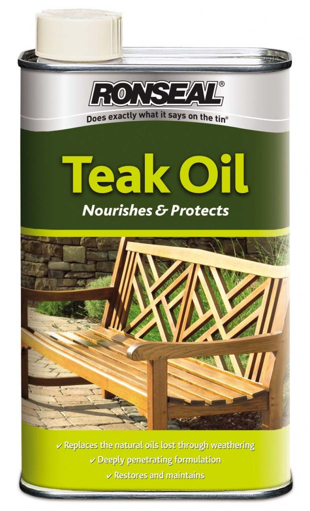 Ronseal Garden Clear Hardwood Care Furniture Teak Oil