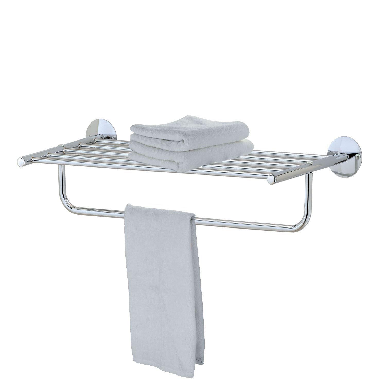 Modern Chrome Quality Bathroom Shelf Towel Stand Rack Rails
