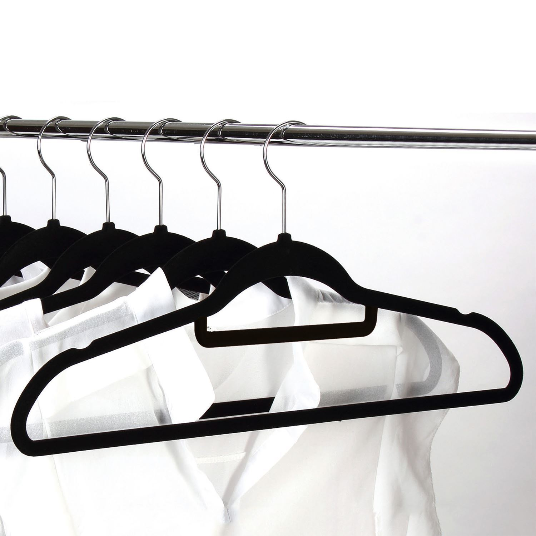 Non-Slip-Space-Saving-Velvet-Flocked-Coat-Clothes-Trousers-Hangers-Organisers thumbnail 9
