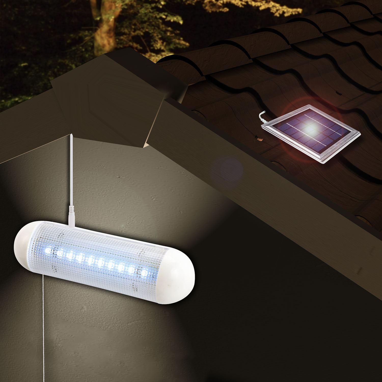 Rechargeable Solar Power Spotlight Garden Shed 10 Led