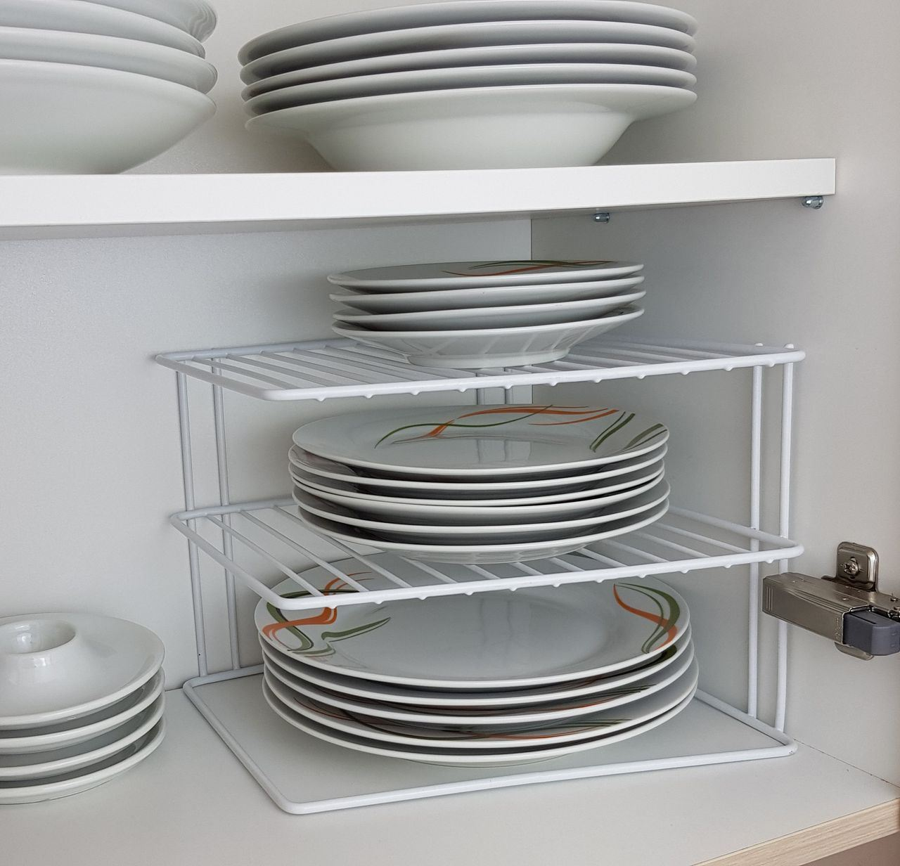 3 Tier White Corner Kitchen Plate Rack Tidy Cupboard Shelf Insert Organiser New Ebay I had to buy two to get all four cabinet doors done. details about 3 tier white corner kitchen plate rack tidy cupboard shelf insert organiser new