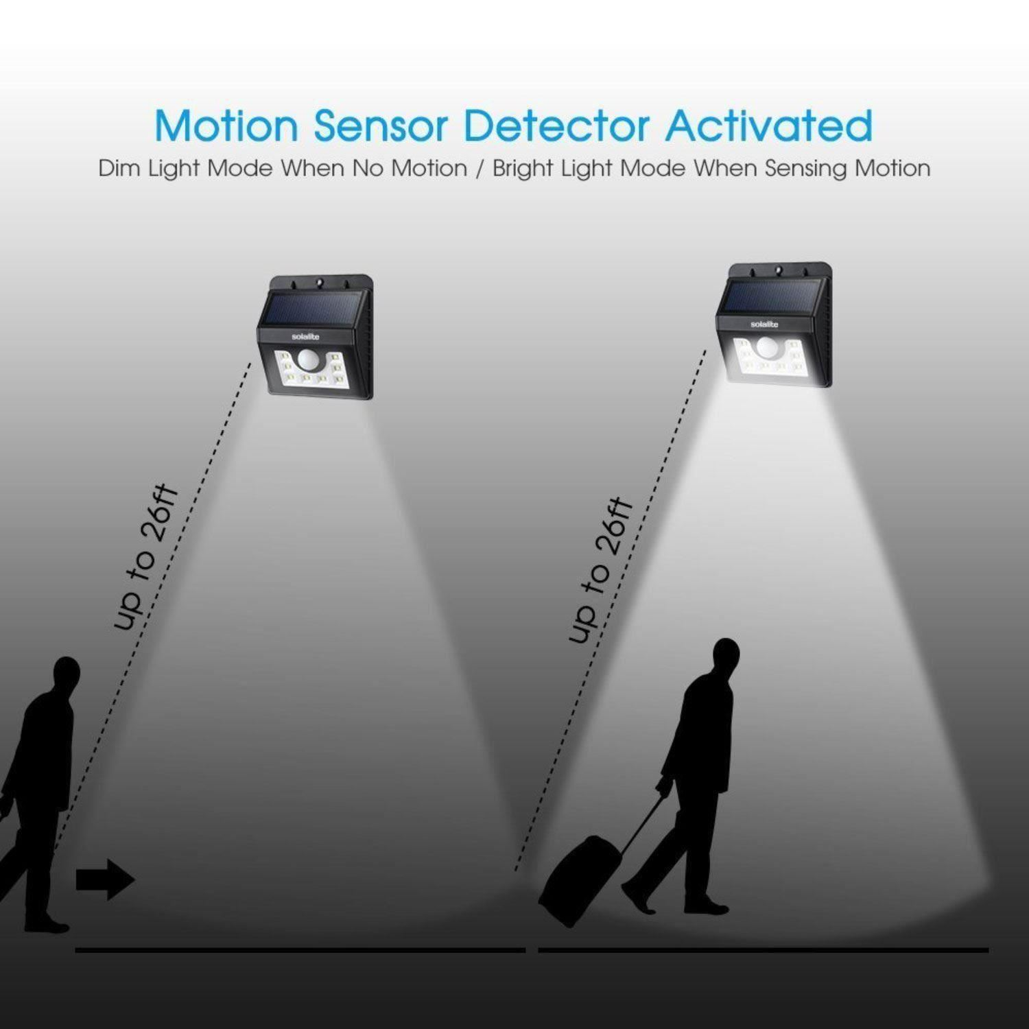 8 Led Solar Pir Outside Wireless Motion Sensor Security Flood Wall Shadow Alarm About This Item
