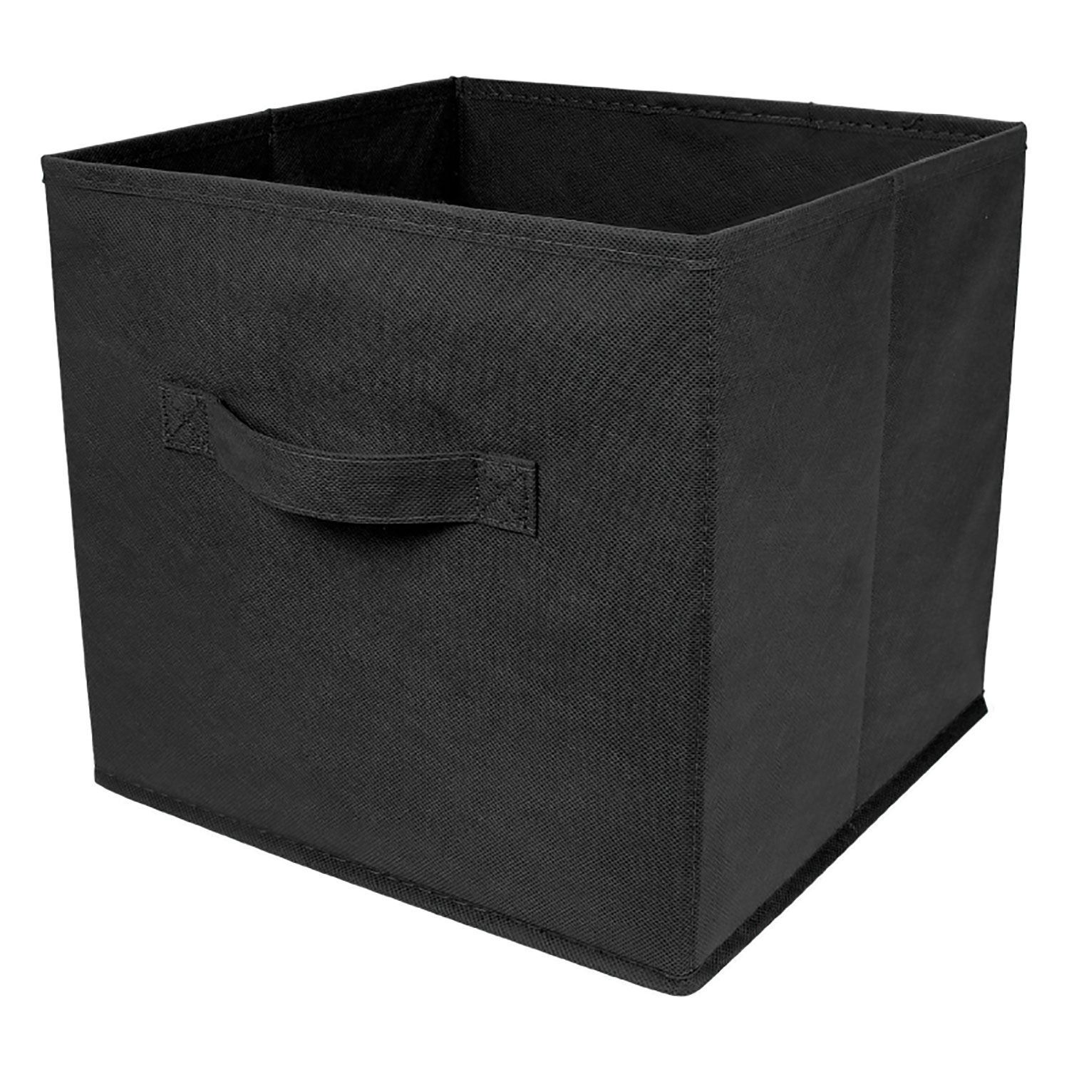 2 x foldable large square canvas storage box collapsible fabric cubes kids home ebay. Black Bedroom Furniture Sets. Home Design Ideas