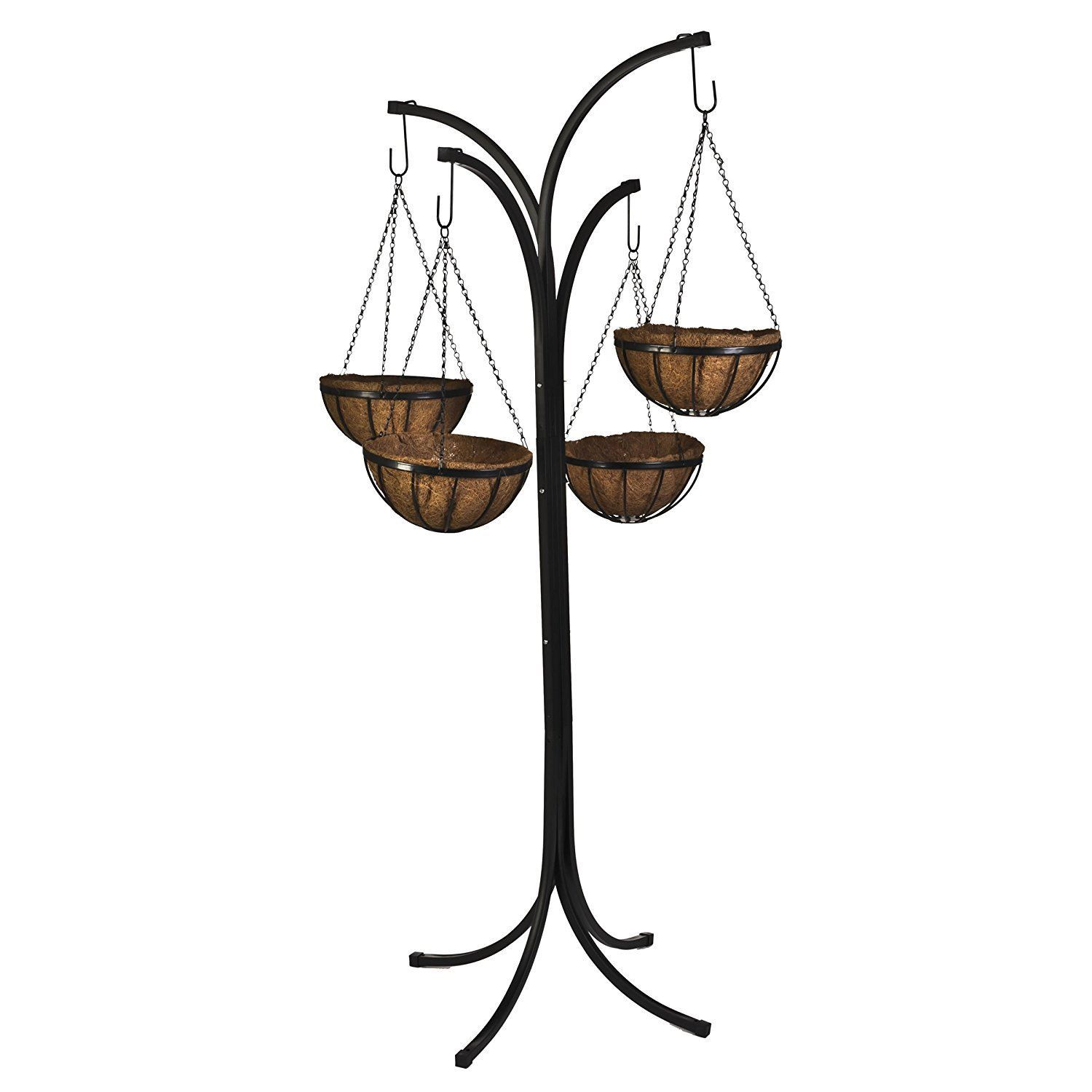 4 Arm Tree Cascade Hanging Basket Patio Stand Garden Plant ... on Plant Stand Hanging  id=95805