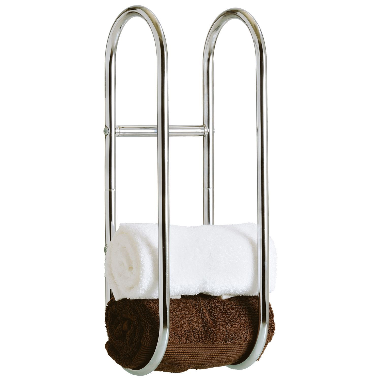 Hand Towels Holder: Chrome Wall Mounted Hand Towel Ring Bathroom Storage Rail