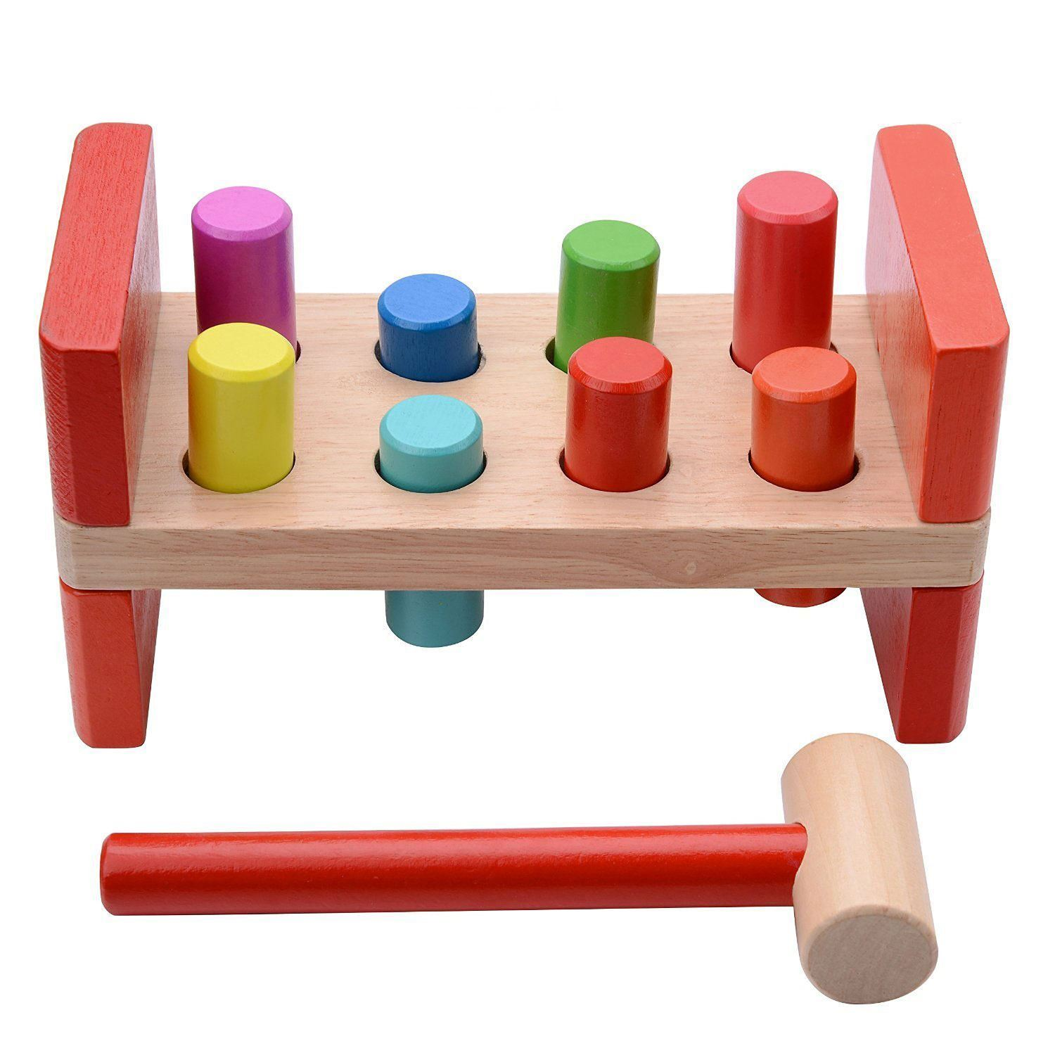 wooden concept products kids bench neo toy wood piggles wiggles hammer