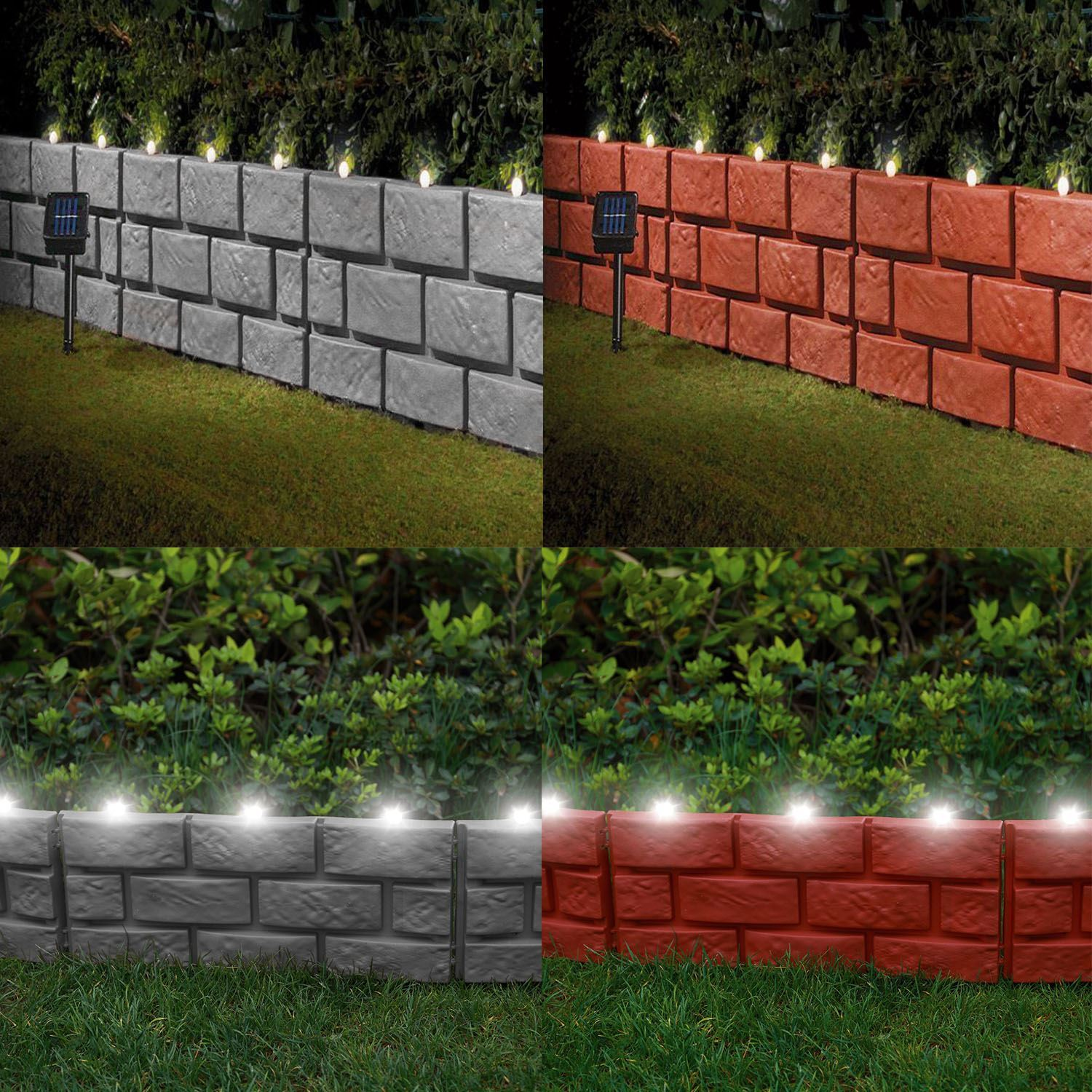 Instant Brick Effect Border Lawn Edging With Led Lights Plant Border Hammer In Ebay