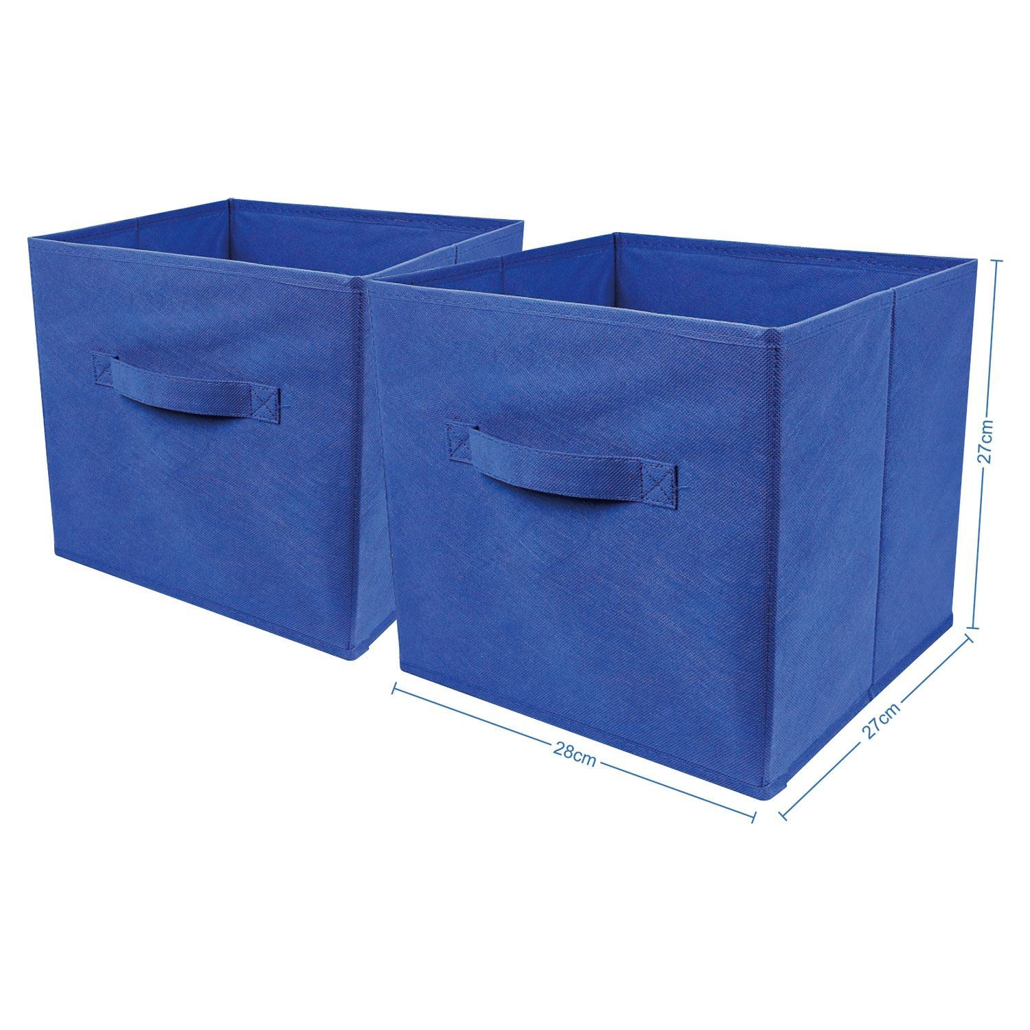 Square Collapsible Canvas Storage Box Foldable Kids Toys: 2 X Foldable Large Square Canvas Storage Box Collapsible