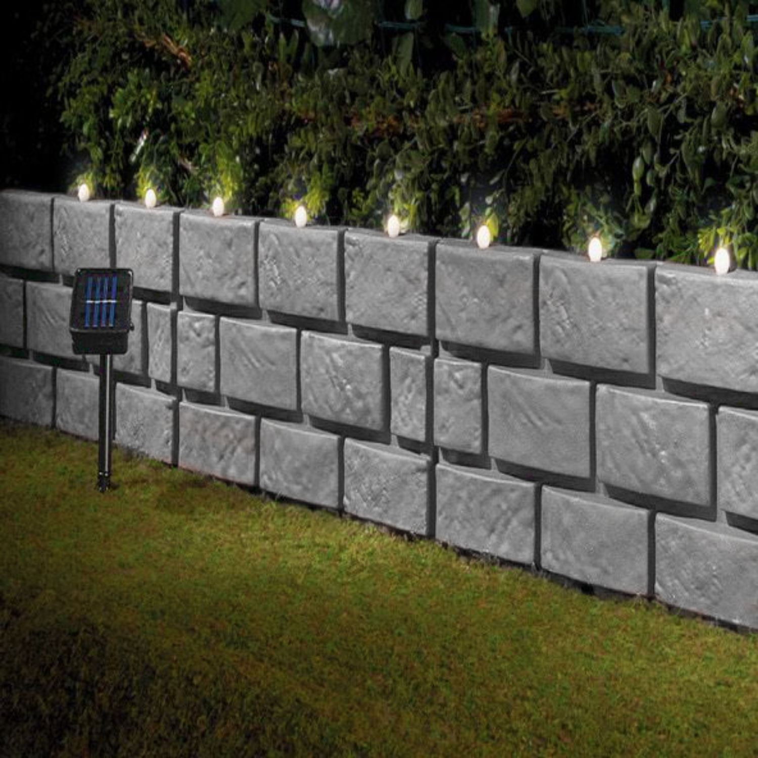 Instant Brick Effect Border Lawn Edging With Led Lights