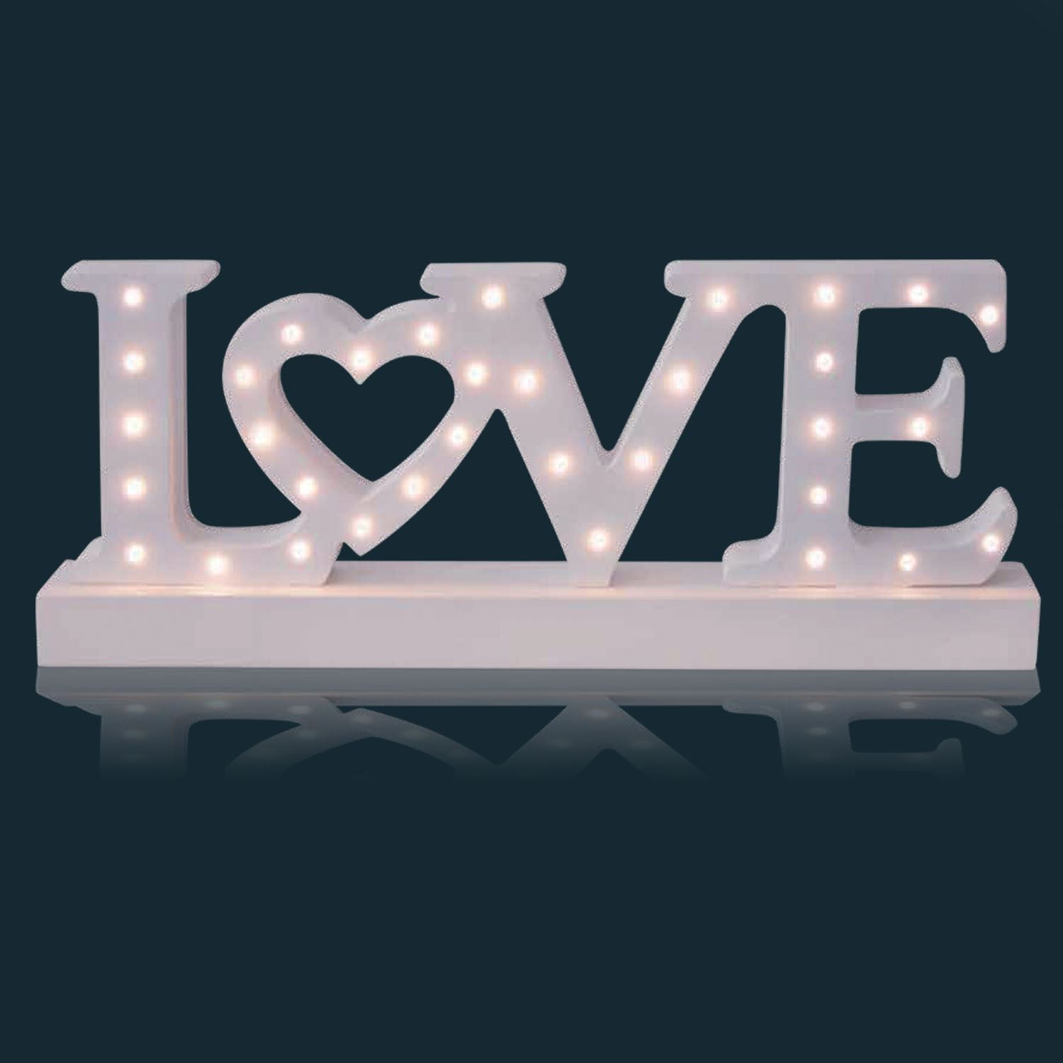 Wooden Letters Home Decor 34 Led White Wooden Free Standing Love Letters Sign Table