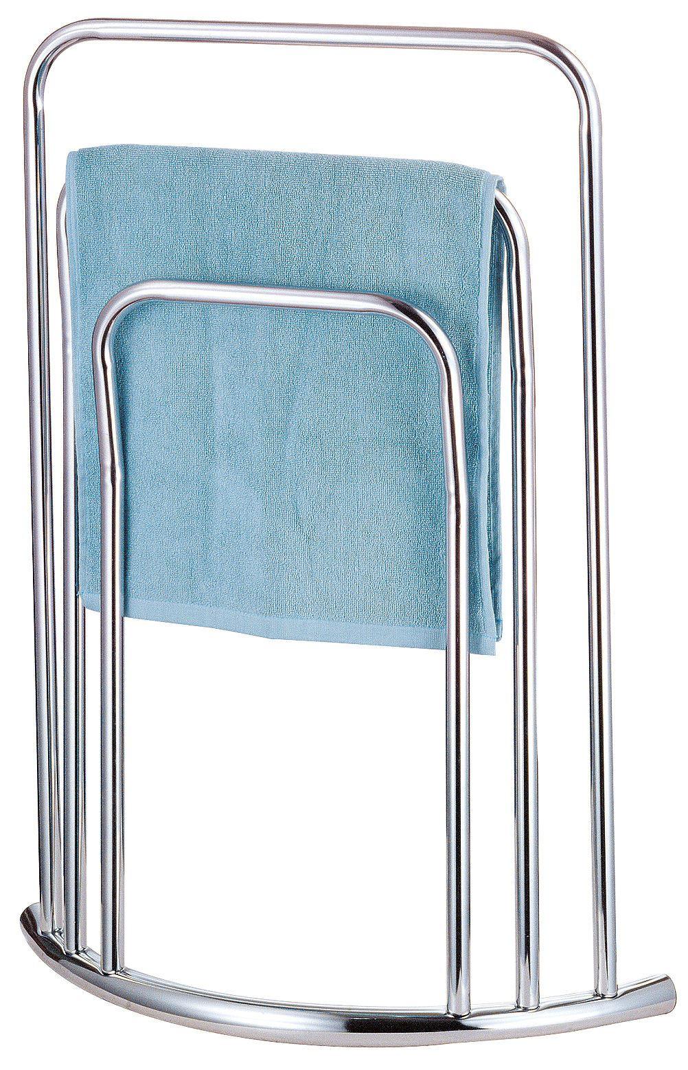 Curved Towel Holder 3 Tier Floor Standing Bathroom Drying Rack Rail