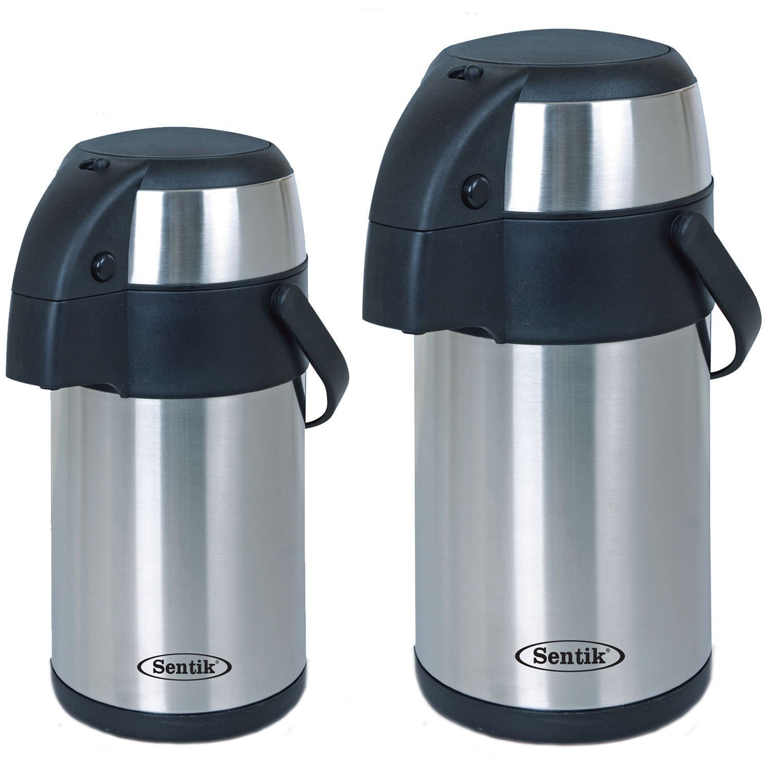 3l 5l litre stainless steel airpot vacuum flask thermos jug with pump action ebay. Black Bedroom Furniture Sets. Home Design Ideas